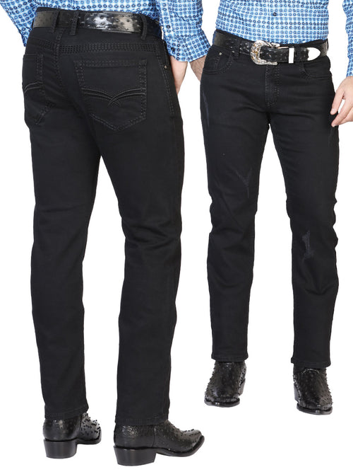 Casual Trousers for Men, 97% Cotton, 3% Spandex 'The Lord of the Skies' * - ID: 42860 BLACK