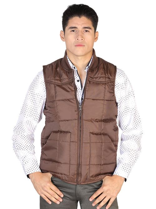 Casual Vest for Men, 100% Polyester 'The Lord of the Skies' * - ID: 43160 CAFE