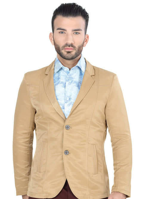 Casual Blazer for Men, 65% Cotton, 35% Polyester 'The Lord of the Skies' * - ID: 124192 KHAKI