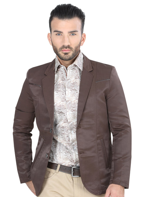 Casual Blazer for Men, 65% Cotton, 35% Polyester 'The Lord of the Skies' * - ID: 124194 BROWN