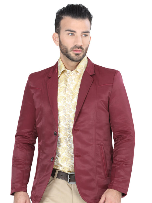 Casual Blazer for Men, 65% Cotton, 35% Polyester 'The Lord of the Skies' * - ID: 124195 BURGANDY