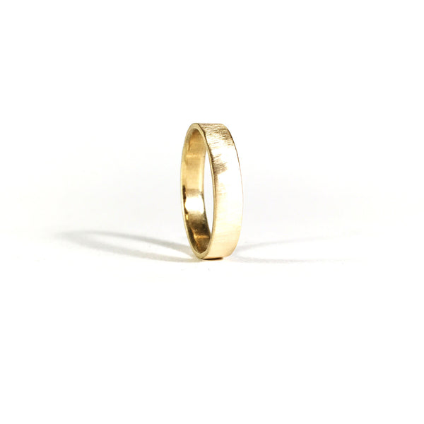 Stay Gold 14k Brushed Band