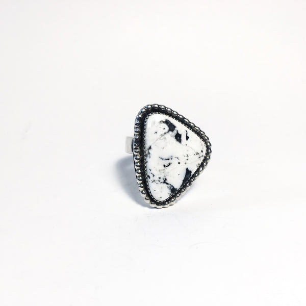 White Buffalo Geo Ring
