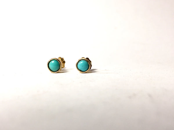14k Gold & Turquoise Earrings
