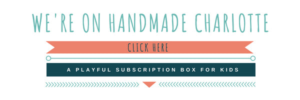 a playful subscription box for kids, outside the box by cheeky days featured on handmade Charolette