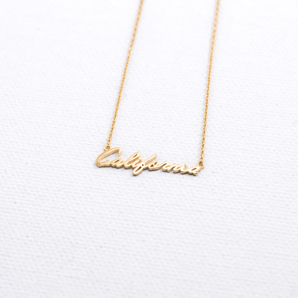 Cali Cursive Necklace