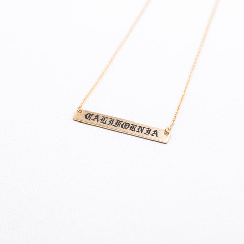 Old English California Bar Necklace