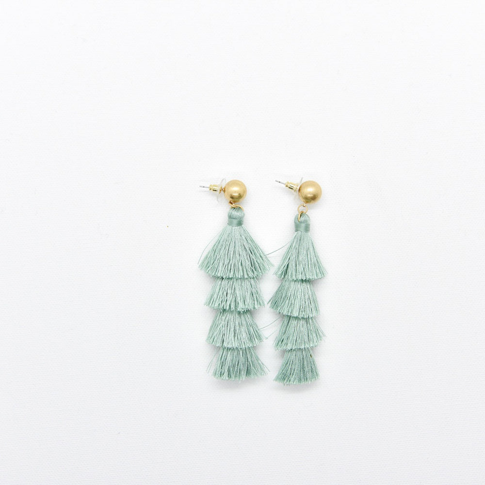 Sage Tassel earrings