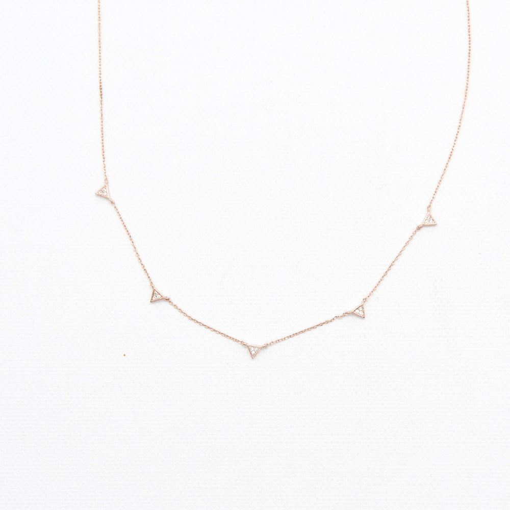 Stella triangle necklace