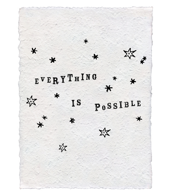 Everything is Possible Handmade Paper Print