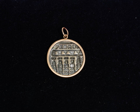 Calendar Charm 10KT Gold and Diamond Feb 14