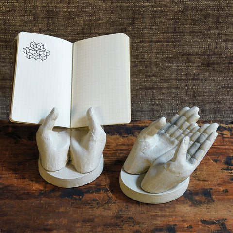 Two Hand Card Holder - Antique White