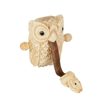 Bone Owl Tape Measure