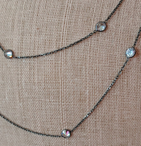 Cubic Zirconia By The Yard Necklace