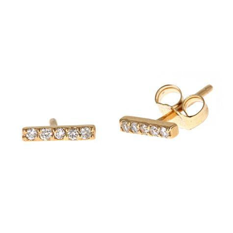 14K Stick Stud Earrings