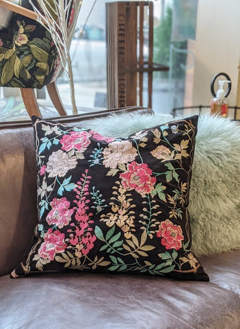 Johnny Was Viney Embroidered Pillow