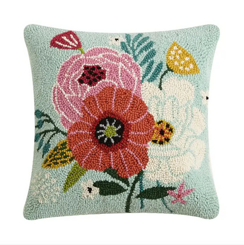 Chic Blooms Hook Pillow