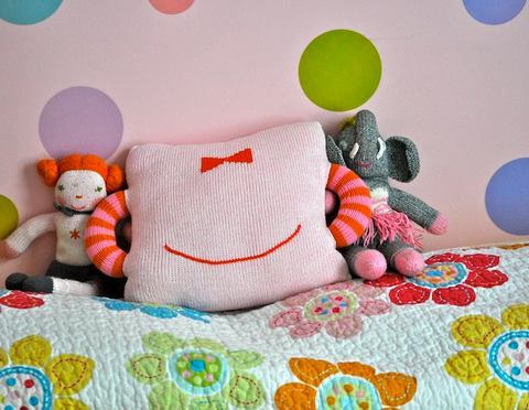 Hold Me Tight Pink Bow Pillow