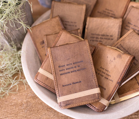 Mini Leather Inspiration Journal