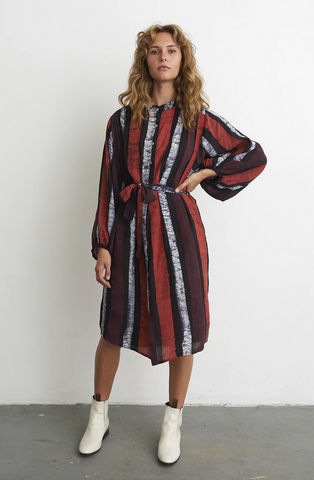 Falda Flouncy Sleeve Shirt Dress
