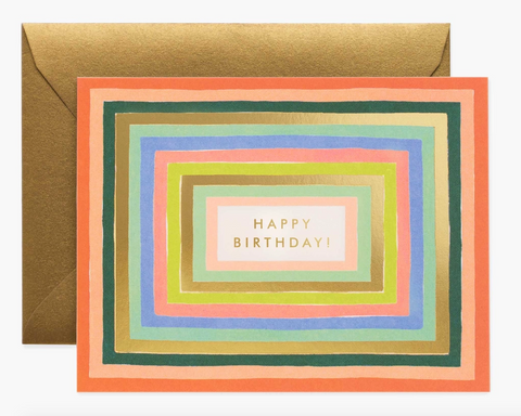 Rainbow Frame Birthday Card
