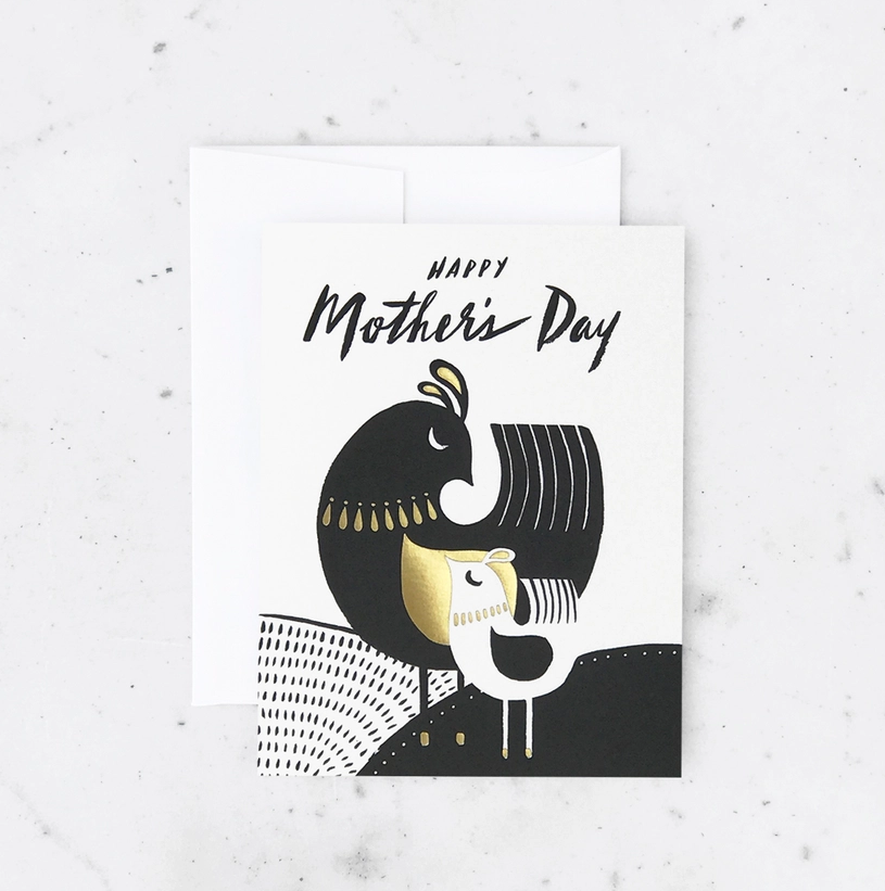 Mid Century Birds Mother's Day Card