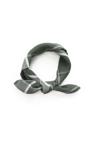 Bandana Sage Houndstooth Plaid