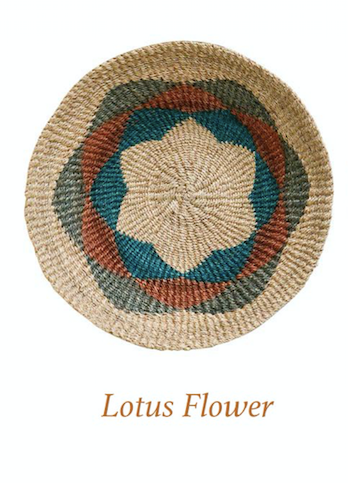 Round Hand-Woven Abaca Wall Basket