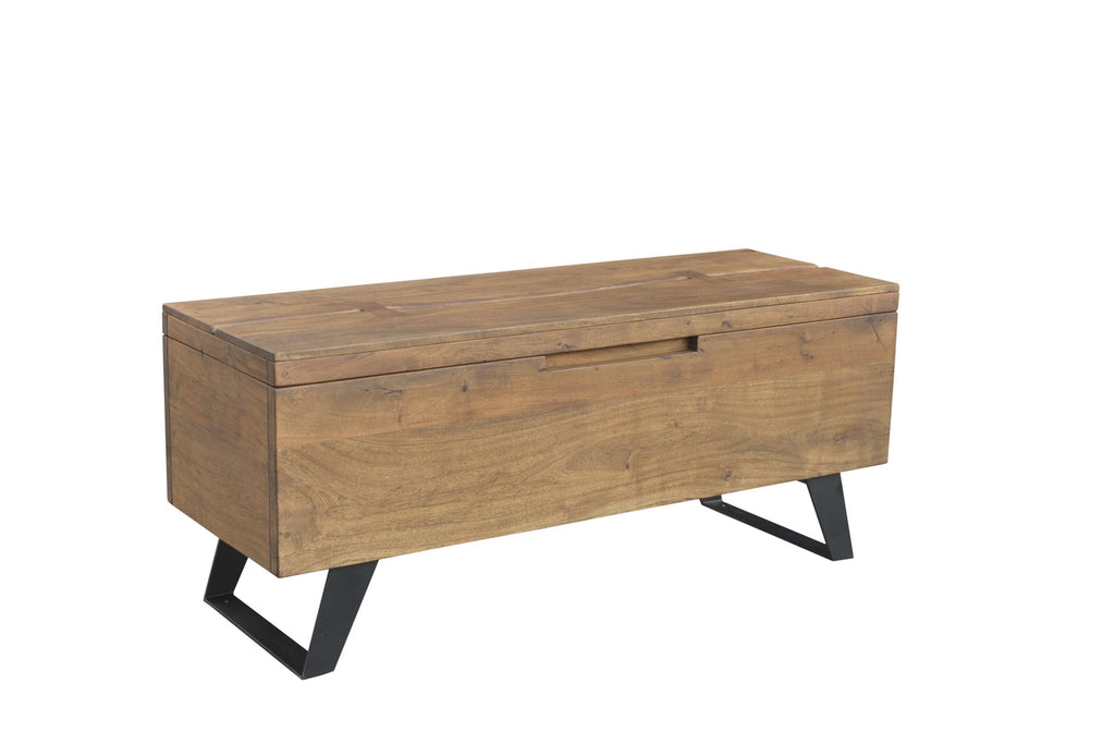 Wood & Iron Bowtie Linen Chest