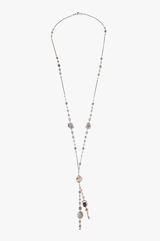 NS-13832 Mix Pearl Necklace