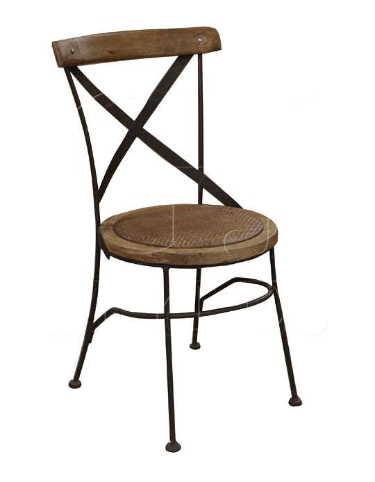 Bistro Cross Chair in Oak & Iron
