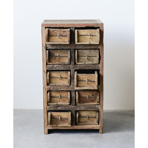 Found Wood Brick Mold Cabinet