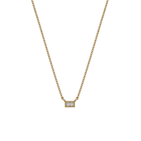 14K Mini Bar Necklace