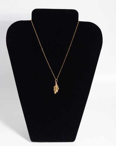 10KT Gold Necklace with Frankie Single Link