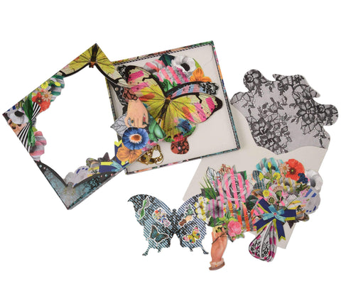 Christian Lacroix Frivolites Die Cut Boxed Fan Note Card Set