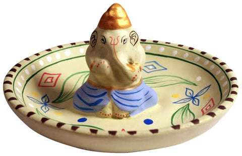 Pottery Ganesh Incense Stand, India