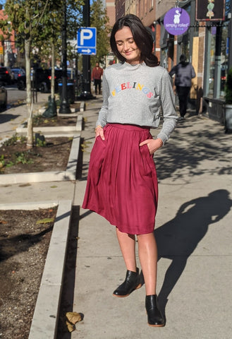 Maggie Pleated Skirt