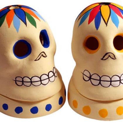 Pottery Skull Cone Incense Stand, India