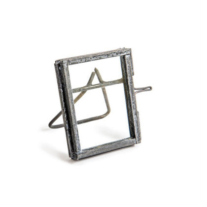 Tiny Glass and Zinc Picture Frame