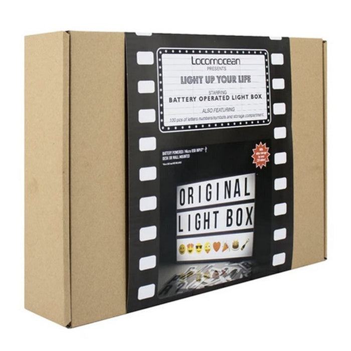 A4 message lightbox black