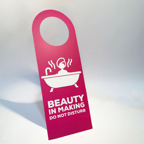 beauty in making doorsign