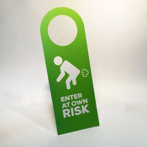 enter at own risk doorsign