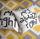 mrs always right cushion cover