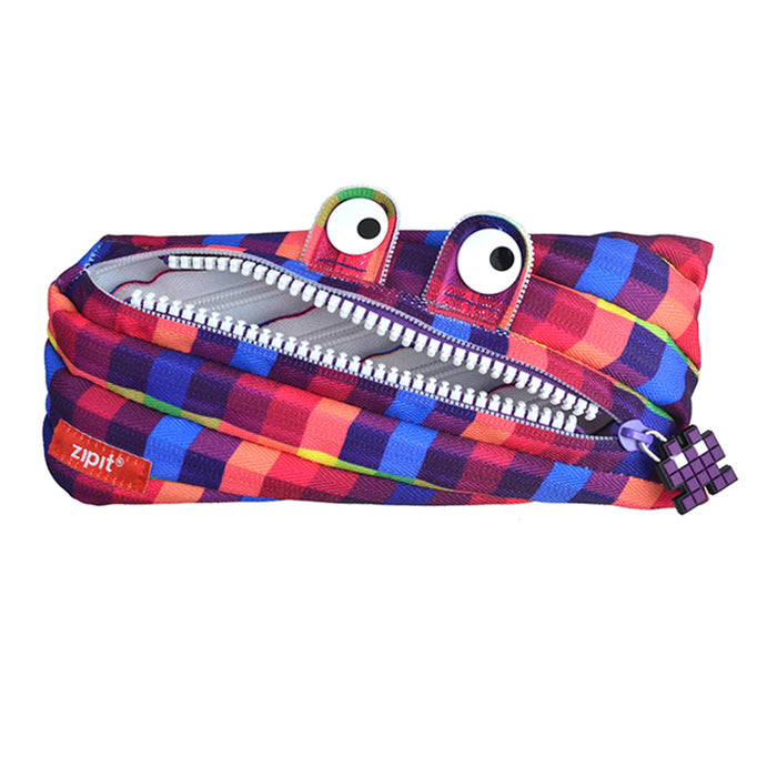 pixel monster pouch purple