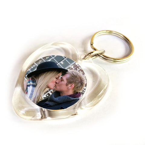 heart photo keyring