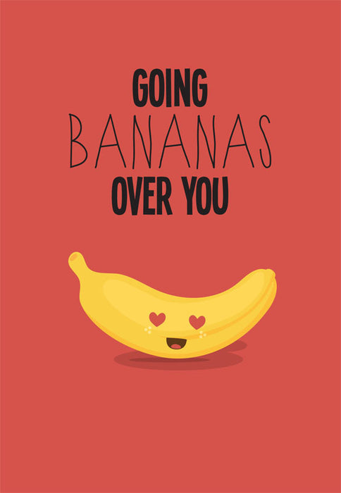 bananas over you card