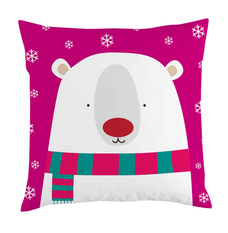 bear snow cushion