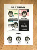 bin chow chow sticker set