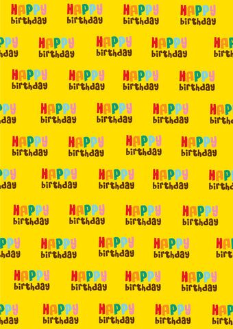 happy birthday gift wrapper (10 sheets)