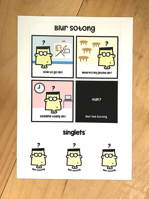 blur sotong sticker set